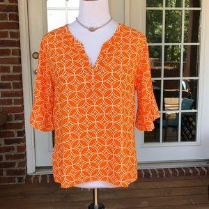 Escapada living blouse VGUC M game day orange